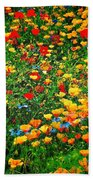 Poppy Petal Patch Beach Towel