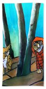 Peter And The Wolf Beach Towel