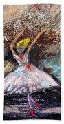 Petite Ballerina Beach Towel