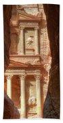 Petra Treasury Revealed Beach Sheet