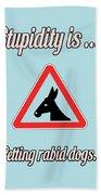 Petting Bigstock Donkey 171252860 Beach Towel