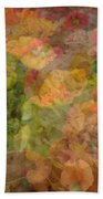Petunias And Lantana Collage Beach Towel