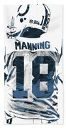 Peyton Manning Indianapolis Colts Pixel Art Beach Towel