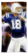 Peyton Manning Beach Towel by Paul Ward