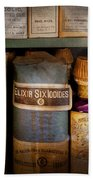 Pharmacy - Oils And Balms Beach Towel by Mike Savad