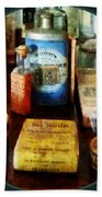 Pharmacy - Cough Remedies And Tooth Powder Beach Towel