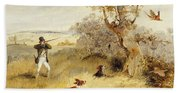 Pheasant Shooting Beach Towel