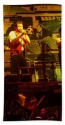 Phil Collins-horns-0906 Beach Towel