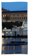 Philadelphia Art Museum And Fairmount Water Works Beach Towel by Gary Whitton