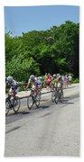 Philadelphia Bike Race - Manayunk Avenue Beach Towel