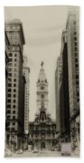 Philadelphia City Hall From South Broad Street Beach Towel