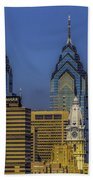 Philadelphia City Hall Skyline Beach Towel