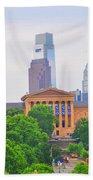 Philadelphia Museum Of Art From Lemon Hill Beach Towel