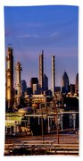 Philadelphia Oil Refinery  Beach Towel