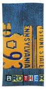 Philadelphia Pennsylvania Skyline License Plate Art Edition 2016 Beach Towel