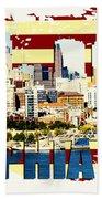 Philadelphia Skyline Beach Sheet