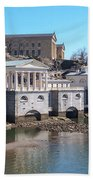 Philadelphia Waterworks And Art Museum Panorama Beach Towel