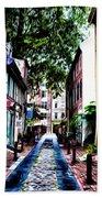 Philadelphia's Elfreth's Alley Beach Towel