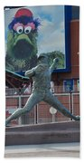 Phillies Steve Carlton Statue Beach Towel