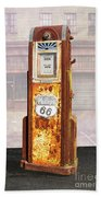 Phillips 66 Antique Gas Pump Beach Towel