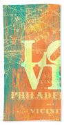 Philly Love V10 Beach Towel