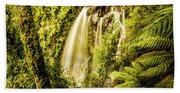 Philosopher Falls, Western Tasmania Beach Towel