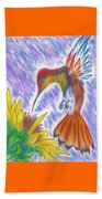 Phoenix Fire Hummingbird Beach Towel