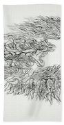 Phoenix Rising Sketch Beach Towel