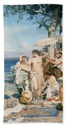 Phryne At The Festival Of Poseidon In Eleusin Beach Towel