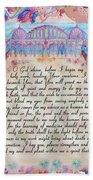 Physician Prayer- English Version Beach Towel