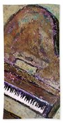 Piano In Bronze Beach Towel