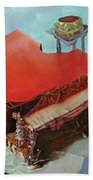Piano In Red Beach Towel