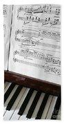 Piano Keys Beach Sheet