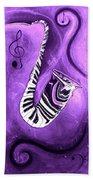 Piano Keys In A Saxophone Purple - Music In Motion Beach Towel