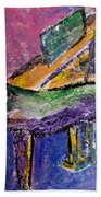 Piano Purple - Cropped Beach Towel