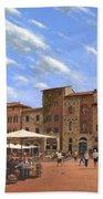 Piazza Della Cisterna San Gimignano Tuscany Beach Towel
