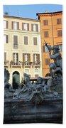 Piazza Navona Rome Beach Towel