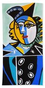 Picasso By Nora  The Queen Beach Towel