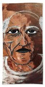 Picasso The Bull In Winter Beach Towel