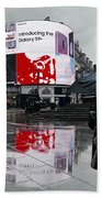 Piccadilly In The Rain Beach Towel