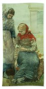 Picking Flowers Beach Towel by Winslow Homer