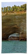 Pictured Rocks Arch Beach Towel