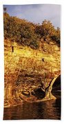 Pictured Rocks Caves Beach Towel