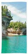 Pictured Rocks Beach Towel