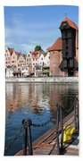 Picturesque City Of Gdansk In Poland Beach Towel