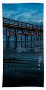 Pier At Dusk Beach Towel