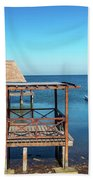 Pier In Champoton, Mexico Beach Towel