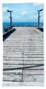 Pier Into The Blue Beach Towel