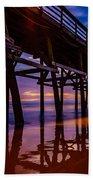 Pier Sunrise Beach Towel