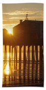 Pier Sunrise Beach Towel